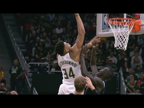 Giannis Dunks on Thon Maker Game 2! 2019 NBA Playoffs