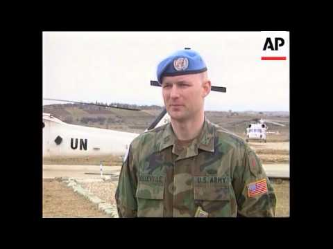 MACEDONIA: UN TROOPS REMAIN ON KOSOVO STANDBY