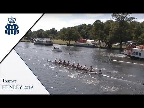 Kingston R.C. 'C' V Lyon - Thames   Henley 2019 Day 1