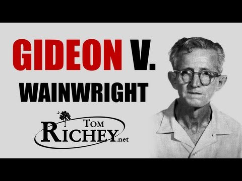 an introduction to the case of gideon vs wainwright Introduction gideon v wainwright 183 vii the supreme court  decision and  in the landmark right-to-counsel case of gideon v wainwright.