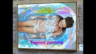 Floating Frame Construction for Canvas Painting