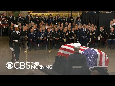 Visitors pay respects to President George H.W. Bush at U.S. Capitol