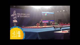 Sea Games 2019 - Mary Flor Diaz Impressive Set At The Women's Weightlifting 45 Kg Final.