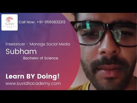 Subham Testimonial | Digital Marketing Course | Suvidit Academy