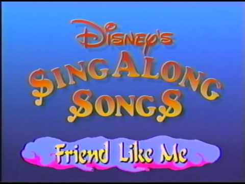 Opening to Disney's Sing Along Songs: Friend Like Me 1993 VHS