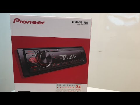 Pioneer MVH-S219BT unboxing review