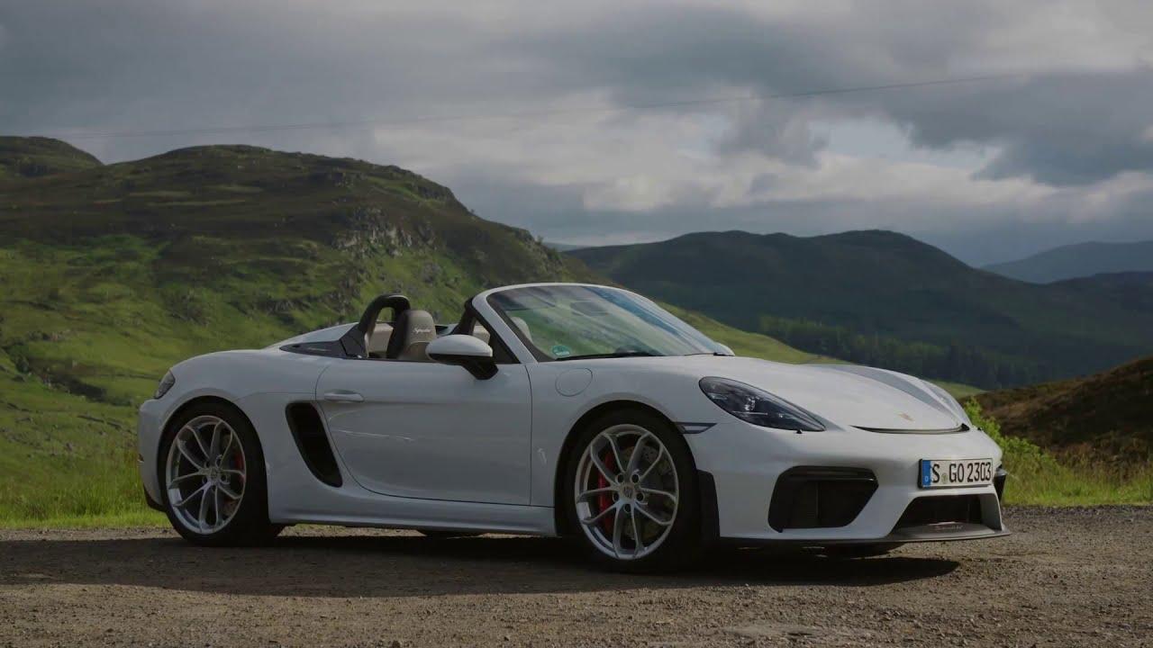 2020 White Porsche 718 Spyder