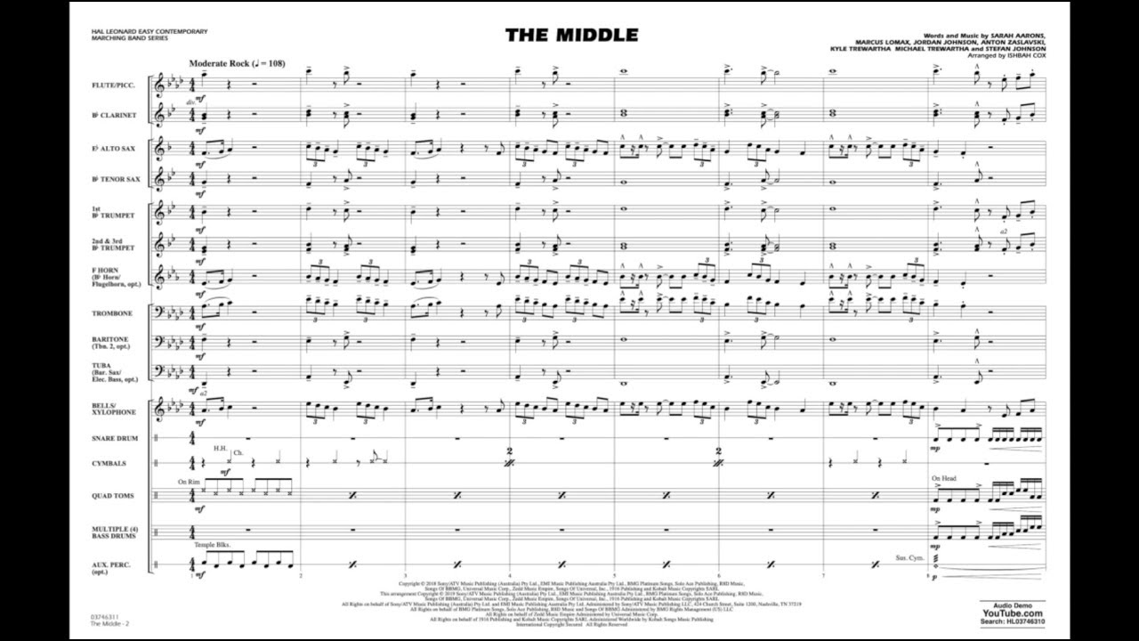 The Middle arranged by Ishbah Cox