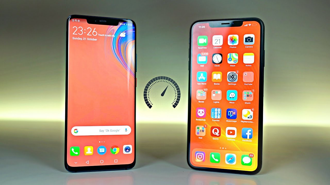 12bb4f2452d1 Huawei Mate 20 Pro vs iPhone XS Max - Speed Test! - YouTube