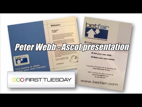 Peter Webb - Bet Angel - Betfair trading / Betting exchange presentation at Ascot
