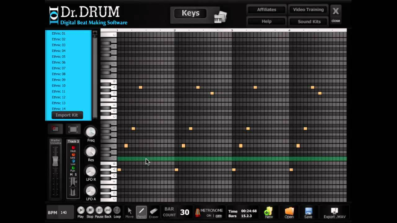 Dr Drum beat making software full tutorial | best beat making ...