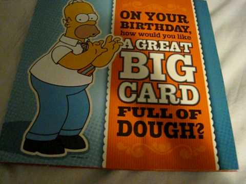 homer simpson birthday card, Birthday card