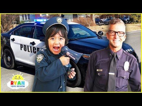 Ryan visits real Police Officers and learn about everyday He