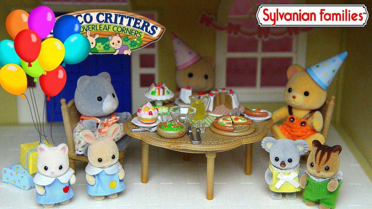 Sylvanian Families Calico Critters Party Set Up in Grand Hotel ...