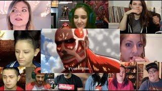 Attack on Titan season 1 episode 5   Reaction Mashup  