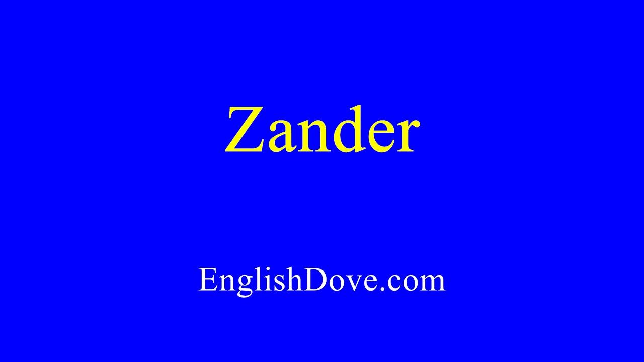 Zander In English