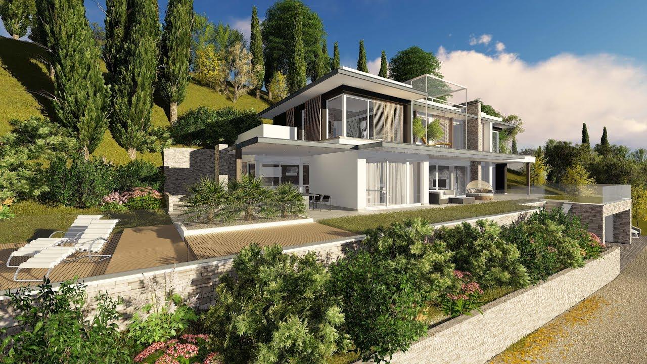 Nuova villa di lusso sul lago di garda render for Ville sul lago di garda affitto