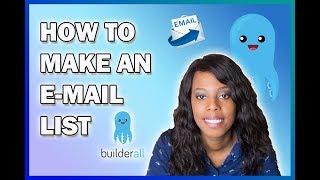 So Erstellen Sie eine Neue Teilnehmer-Liste in Builderall | Mailingboss E-Mail-Liste