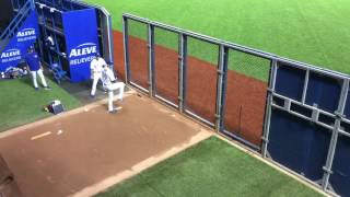 pitching practice by J.A.HAPP@ROGERS CENTER