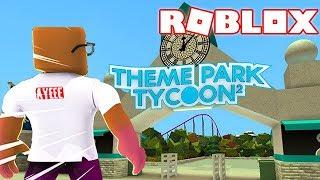 BUILDING MY OWN AMUSEMENT PARK (Roblox Theme Park Tycoon 2)