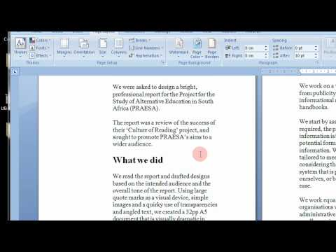 How To Create Printable Booklets in Microsoft Word 2007 & 2010 Step By Step Tutorial