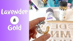Resin with Me - Lavender and Gold Alphabet Charms