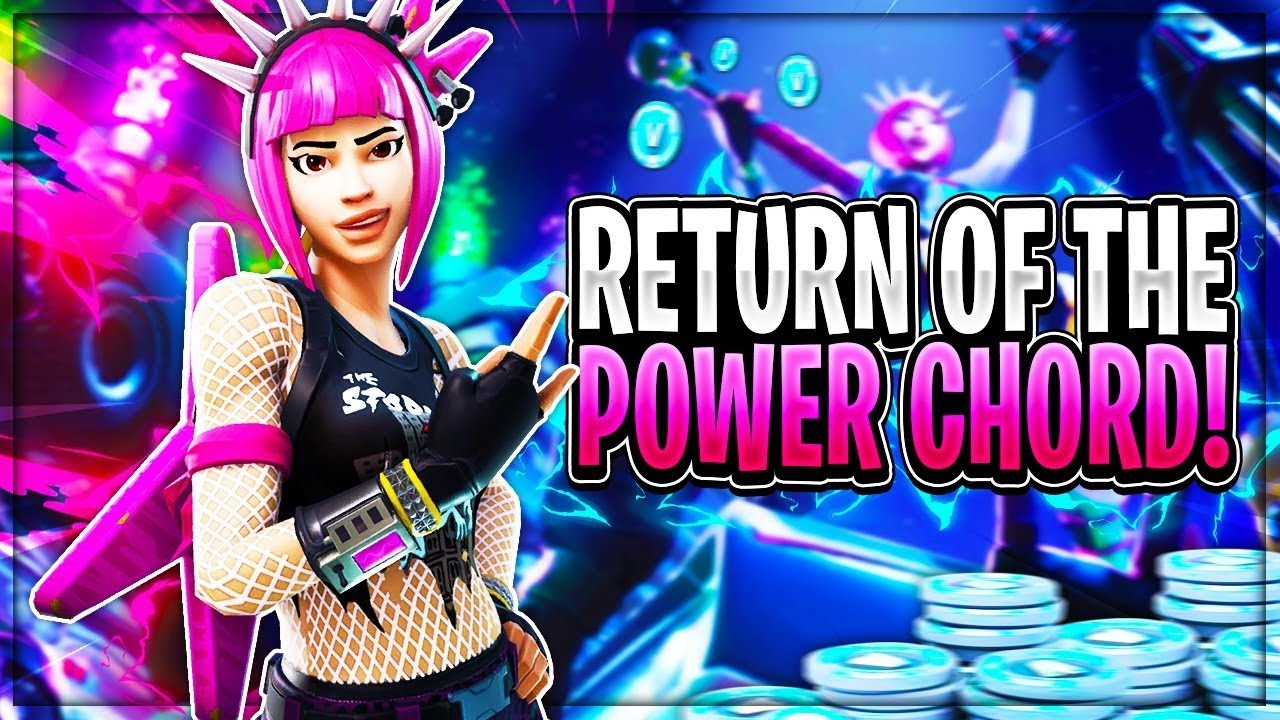 Fortnite Power Cord : Power chord outfit is returning to fortnite new
