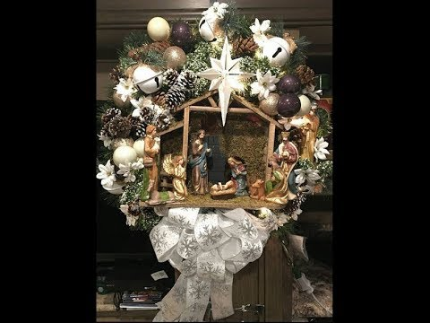 Thomas Kinkade Christmas Village Wreath Youtube