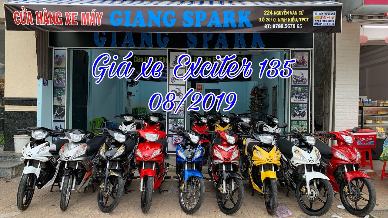 Giá Yamaha Exciter 135 tại Giang Spark tháng 08/2019   MKT