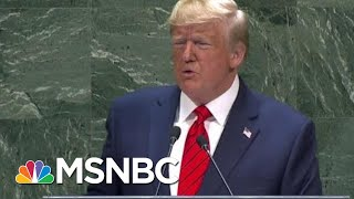 Trump Pushes 'America First' Foreign Policy To U.N. In SOTU-Like Speech | Hallie Jackson | MSNBC