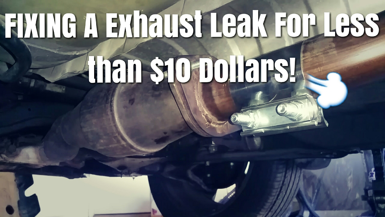 here is how to fix a exhaust leak with a walker clamp nissan exhaust part 2