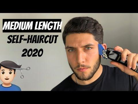 medium-length-self-haircut-tutorial-2020- -how-to-cut-your-own-hair