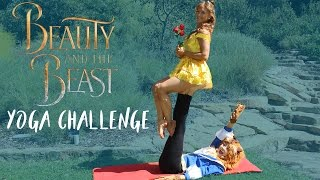 Extreme Yoga Challenge as BEAUTY & THE BEAST | The Rybka Twins