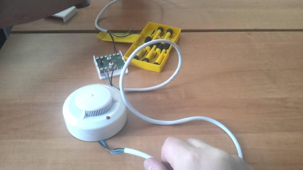 Подключение 2-х проводного пожарного извещателя  к 4-х проводному ШС