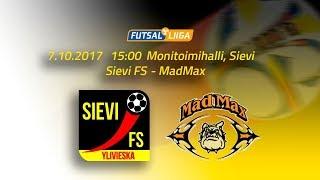 7.10.2017 Sievi FS-MadMax klo 15.00 Futsal Liiga