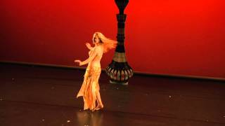 Efrat belly dancer performing at Victoria Teel Gala show in Houston TX