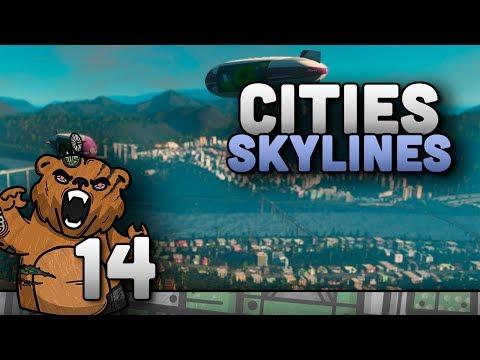 Eletricidade subterrânea   Cities Skylines #14 - Mass Transit Gameplay Português PT-BR