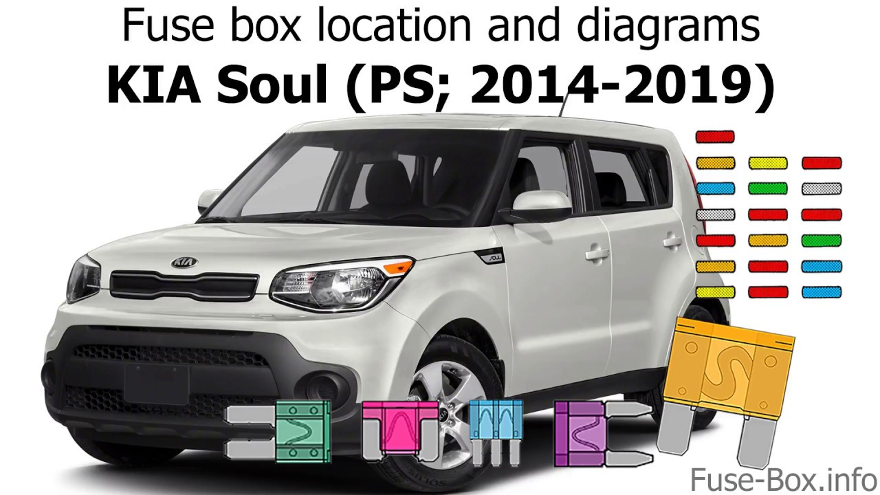fuse box location and diagrams kia soul ps 2014 2019  [ 1280 x 720 Pixel ]