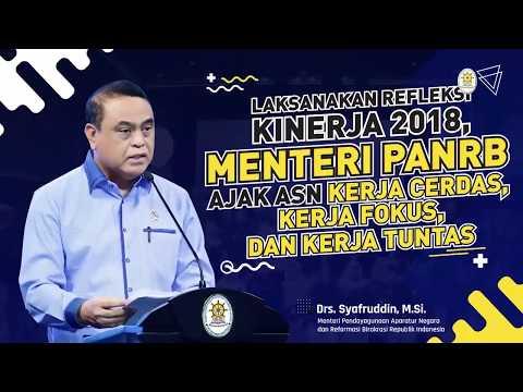 Laksanakan Refleksi Kinerja 2018, Ajak ASN Kerja Cerdas , Kerja Tuntas