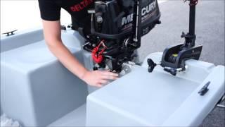 Installation d'un moteur thermique sur une barque par Delta Nautic
