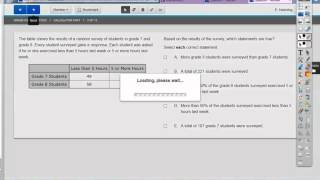 8th grade PARCC practice test 2 calculator section 1 to 5