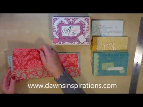 How to make 3 x Mini Scrapbook Albums in a Presentation Box