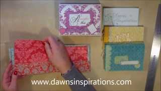 How To Make 3 X Mini Scrapbook Albums In A Presentation Box