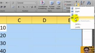How to Filling Cell Ranges with Data in Microsoft Excel 2010 in Urdu