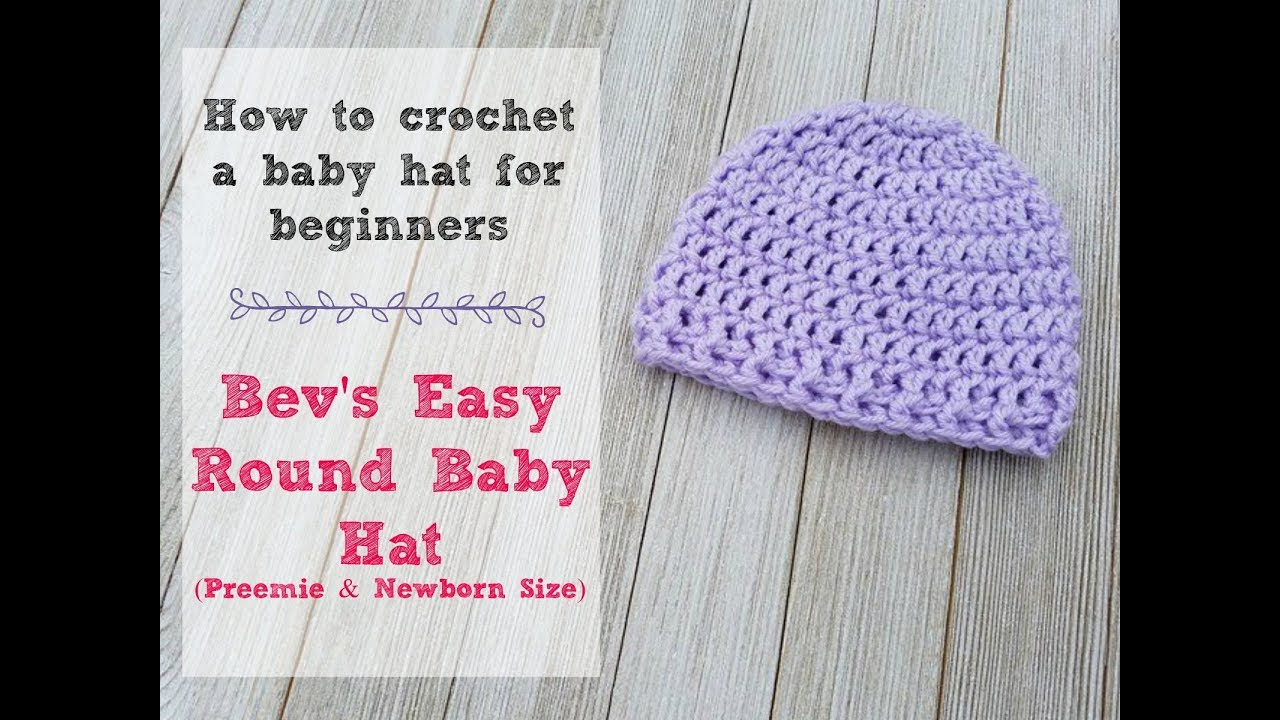 How To Crochet An Easy Newborn Or Preemie Hat Youtube