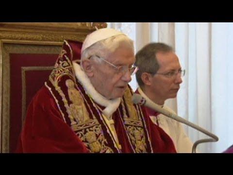 Pope Benedict XVI announces his resignation