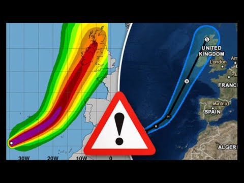 Hurricane Ophelia Ireland WARNING: Met Eireann issues yellow weather warning – latest path