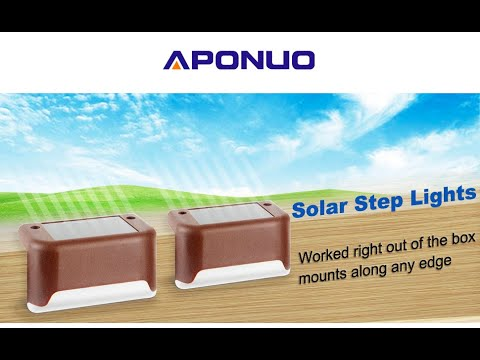 Unboxing/Review/Demo Of The APONUO Solar Deck Lights. Save The Planet While Lighting Your Life!