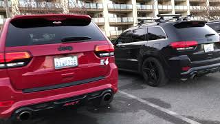 Jeep Grand Cherokee SRT stock vs. Borla ATAK vs. GTHaus Exhaust, Warm Start and Rev