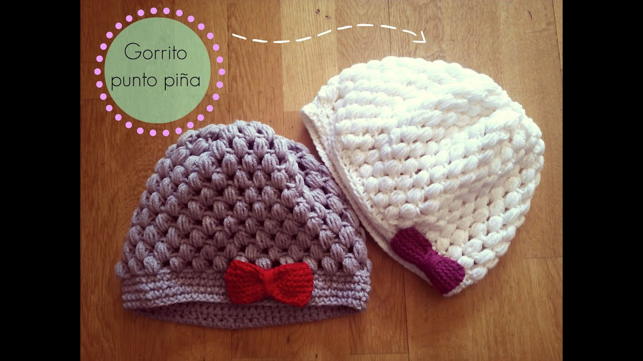 Gorro de ganchillo f?cil punto pi?a - Crochet Hat Puff Stitch ...